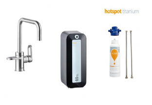 HotSpot Titanium 8-Litre Combi Heater,  Adrianna Stainless Steel Tap & Water Filter Instant Tap Set